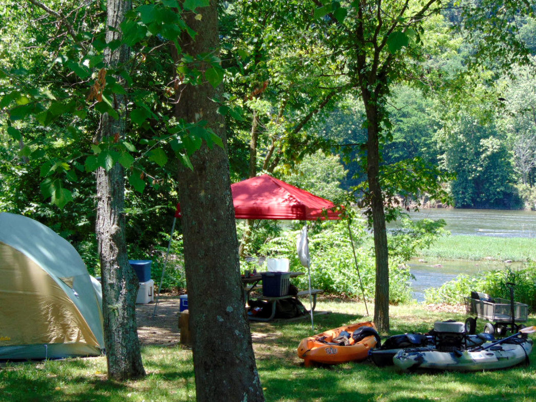 More than 20 miles of the New River runs through Wythe County, with very nice camping options along the route.