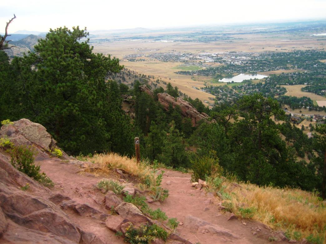 With more than 1,300 feet of elevation gain, Mount Sanitas tests many a trail runner's lung capacity.