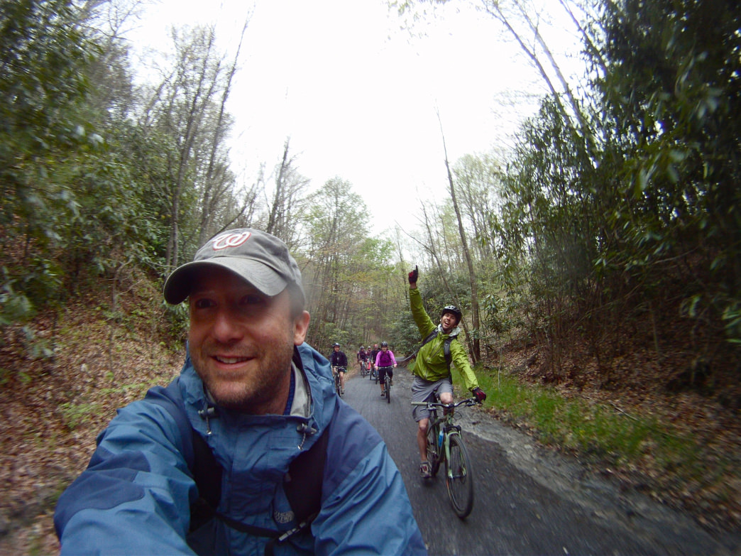 Many of the bike paths are wide enough to bring your whole crew.     Jay Young
