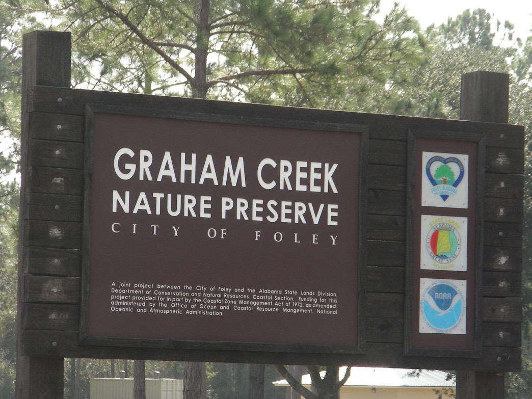 You can't miss the entrance to Graham Creek Nature Preserve.