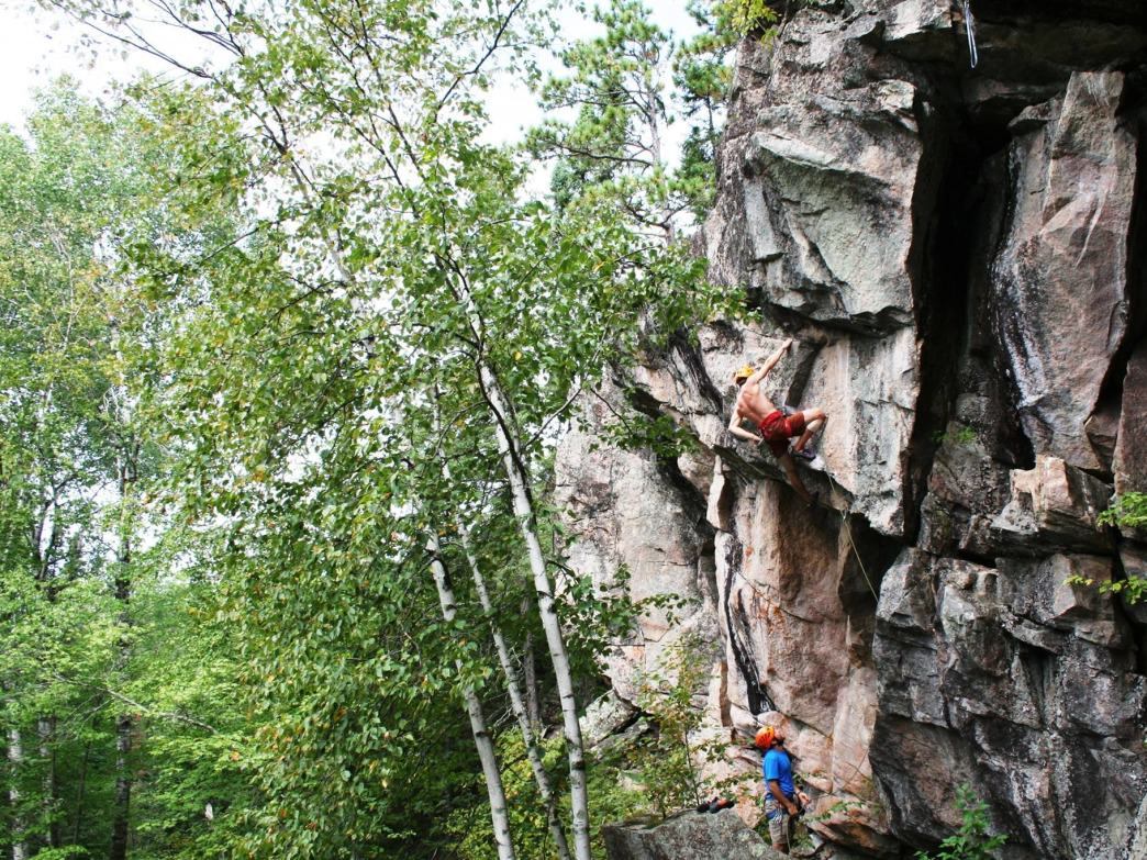 Minnesota's growing climbing community is talking advantage of the rock and ice in the state.