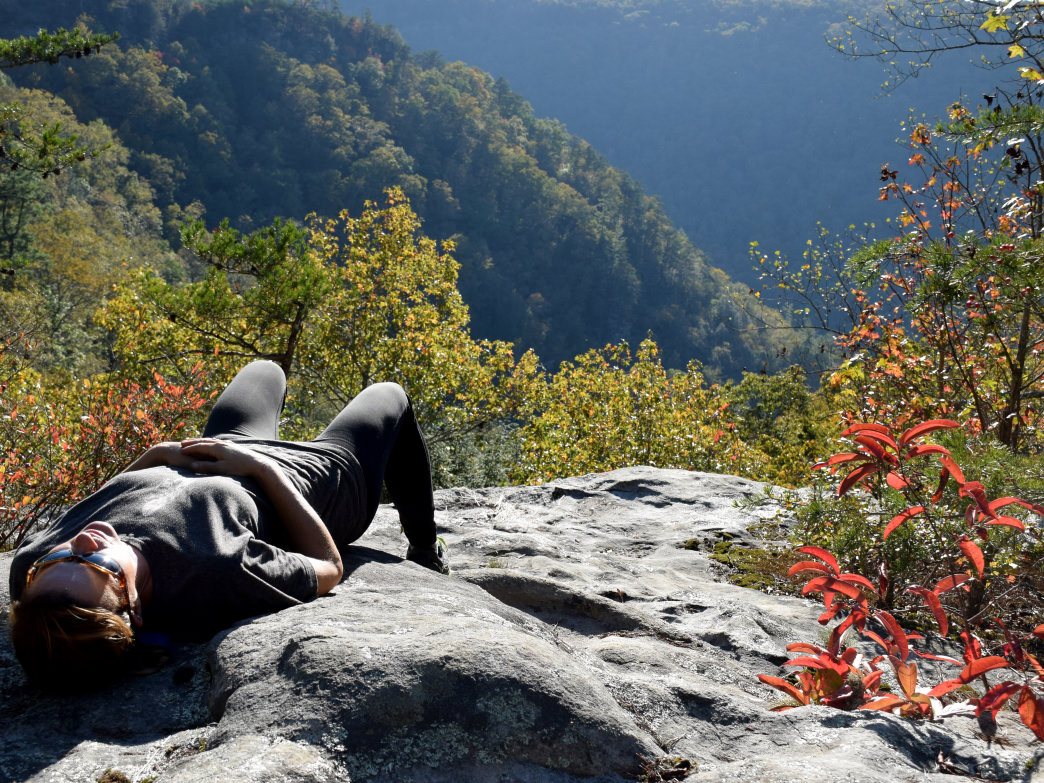 Cumberland Trail, above Laurel Falls.