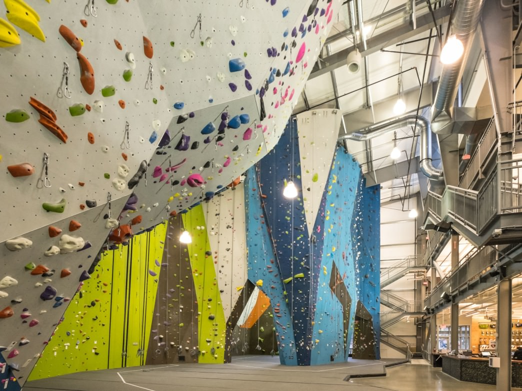 Planet Granite Portland is the West Coast chain's first Northwest location, with route walls up to 55 feet high.