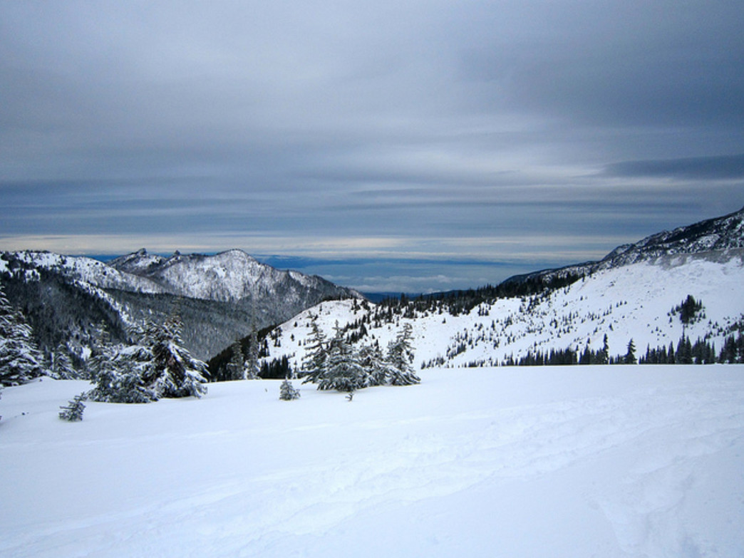 Hurricane Ridge provides a great wintery view.