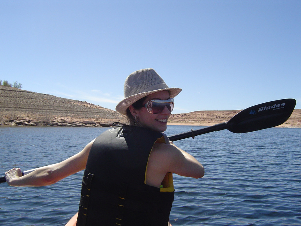 Paddling on Lake Powell.