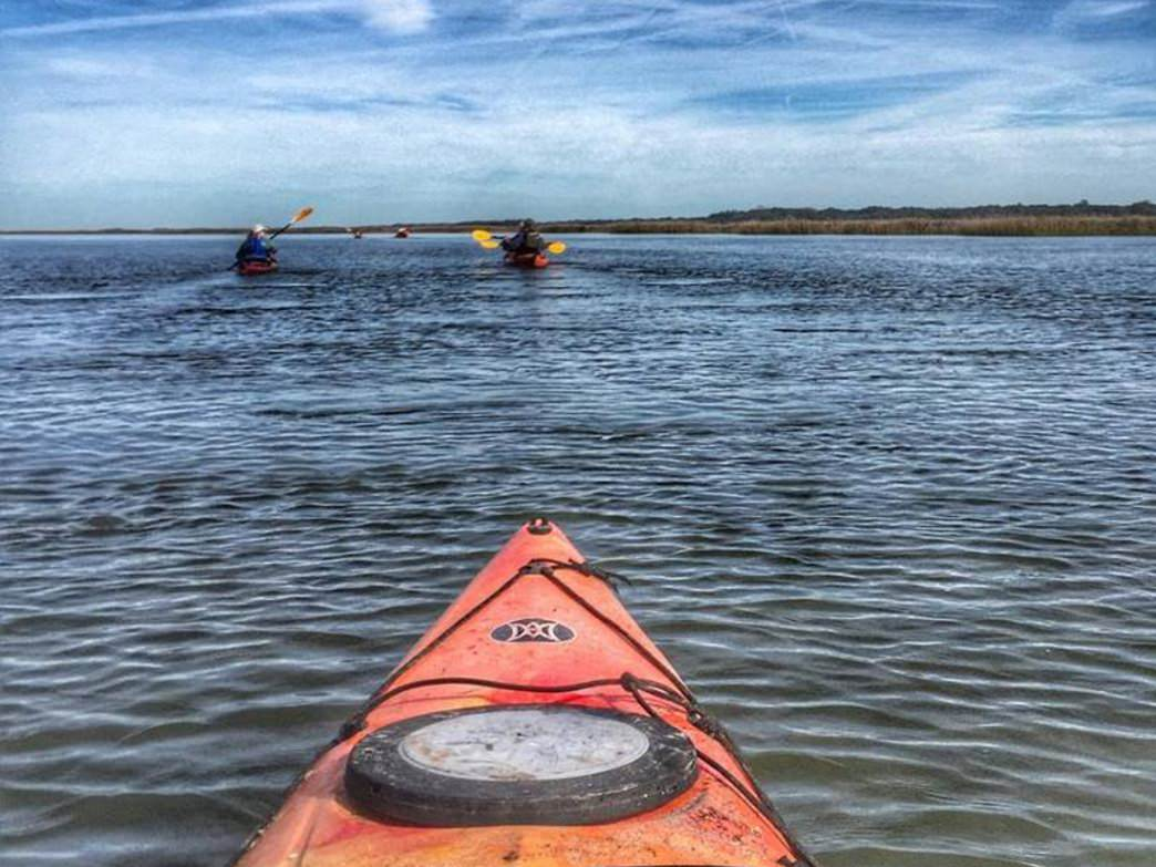 Kayaking  is a great way to explore Sapelo Island.