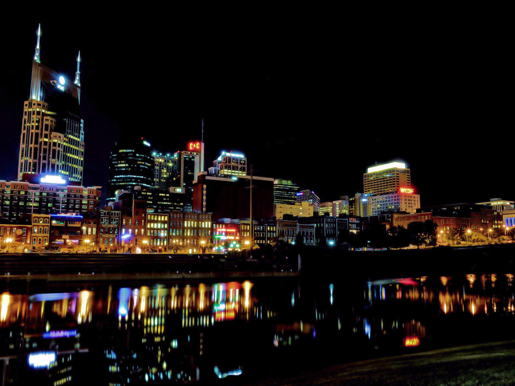 Nashville Tennessee Skyline.