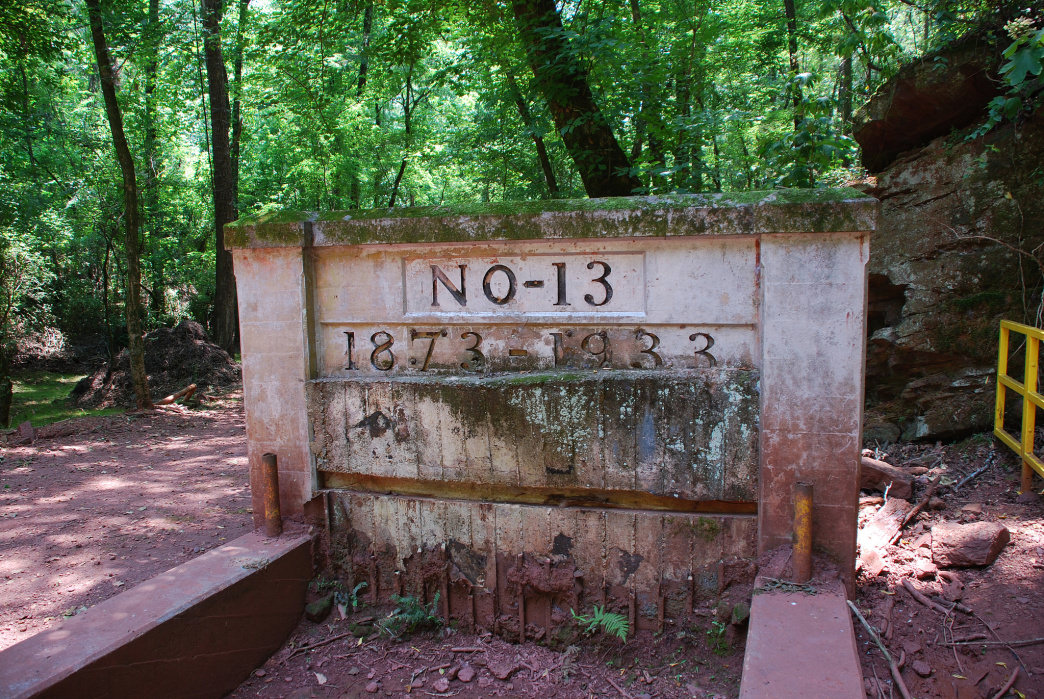 The entrance for the Number 13 iron ore mine on Red Mountain.     Max Wolfe