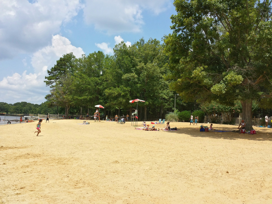 Cane Creek Park's large beach area is just one of its amenities