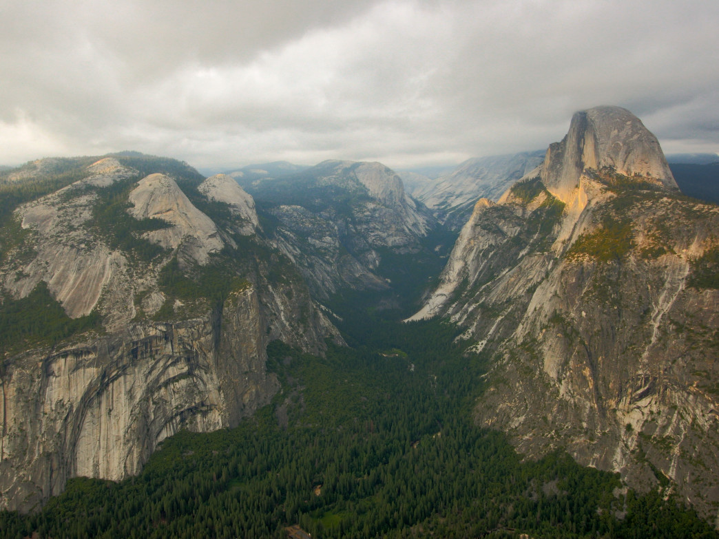 The iconic valley view from Glacier Point