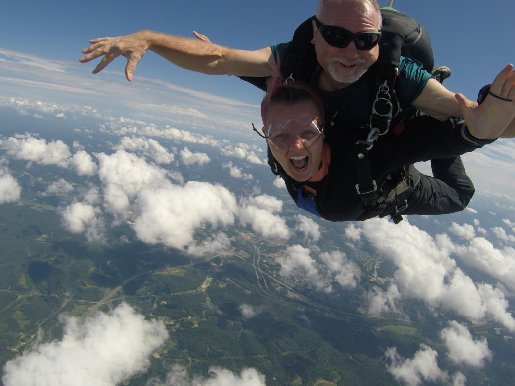 Skydive with a certified instructor at WV Skydive.