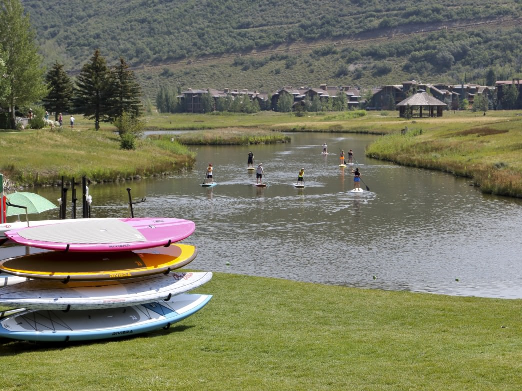 Summer SUP at Deer Valley Resort.