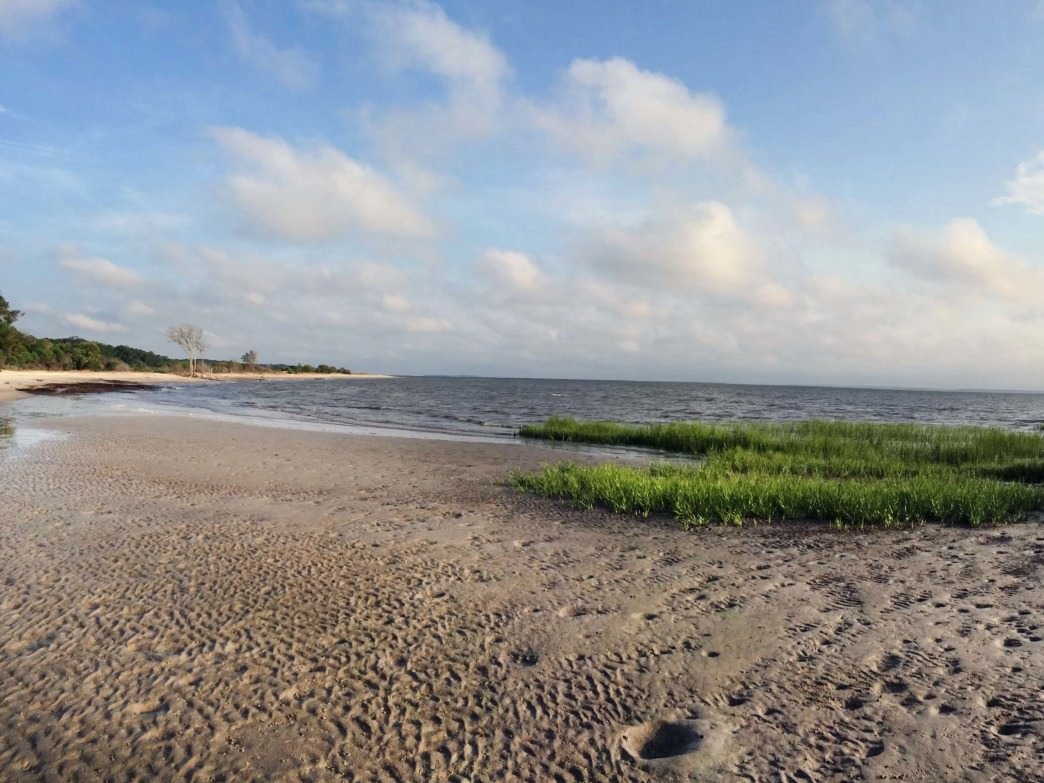 A beautiful panoramic shot of Mitchelville Beach