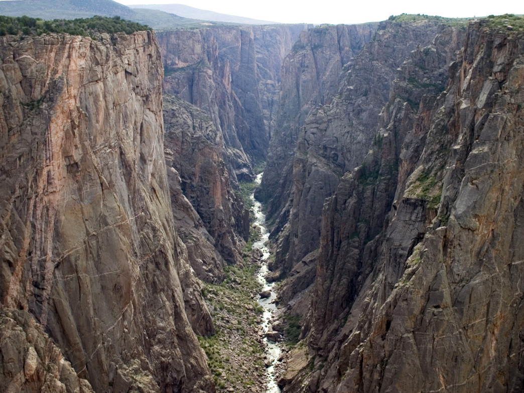 The inner canyon of Black Canyon of the Gunnison.