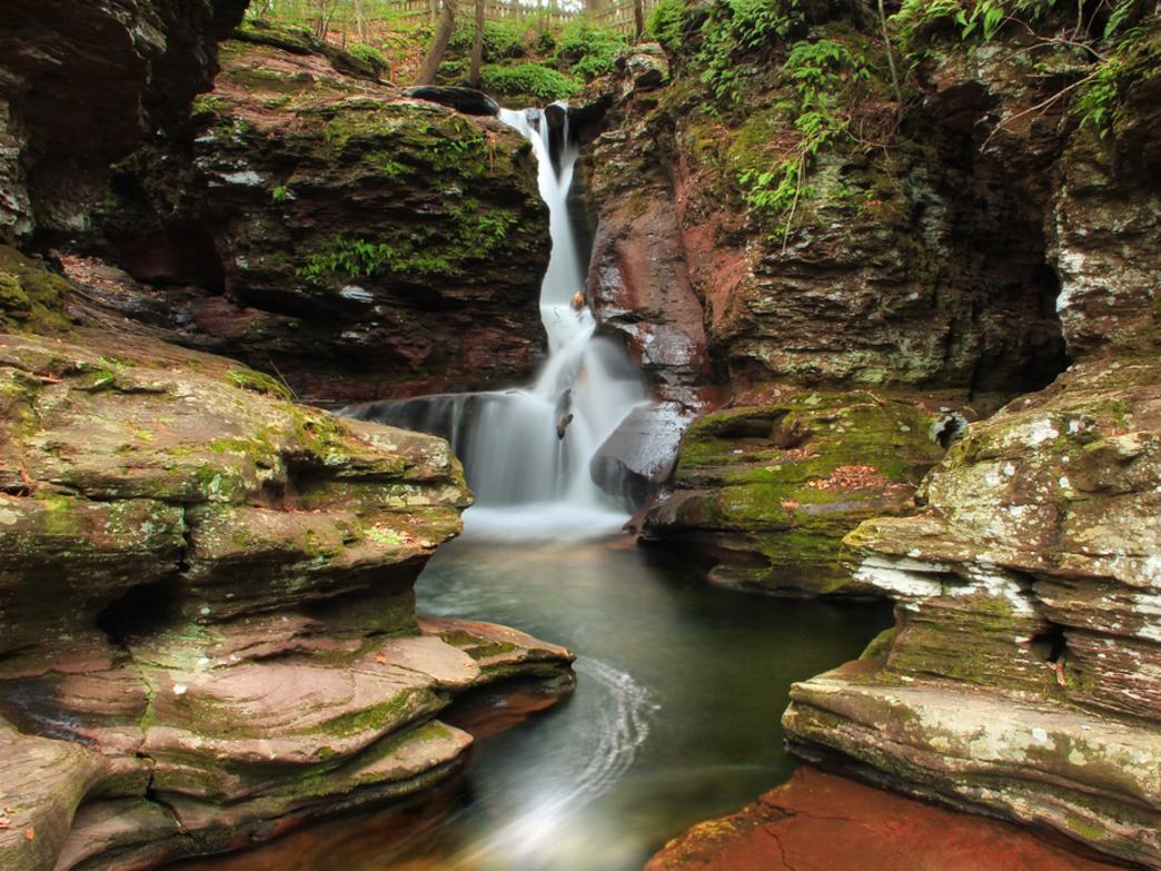Adams Falls is just one of more than 20 waterfalls located in Ricketts Glen State Park.