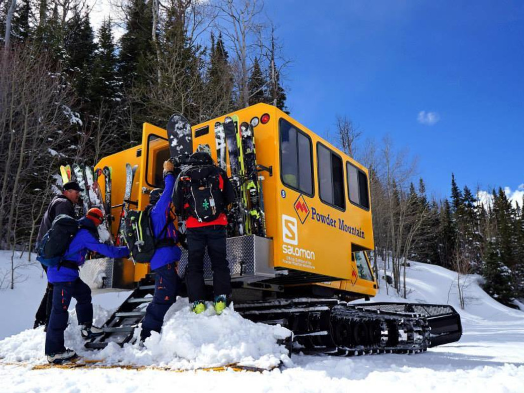 Powder Mountain snowcat