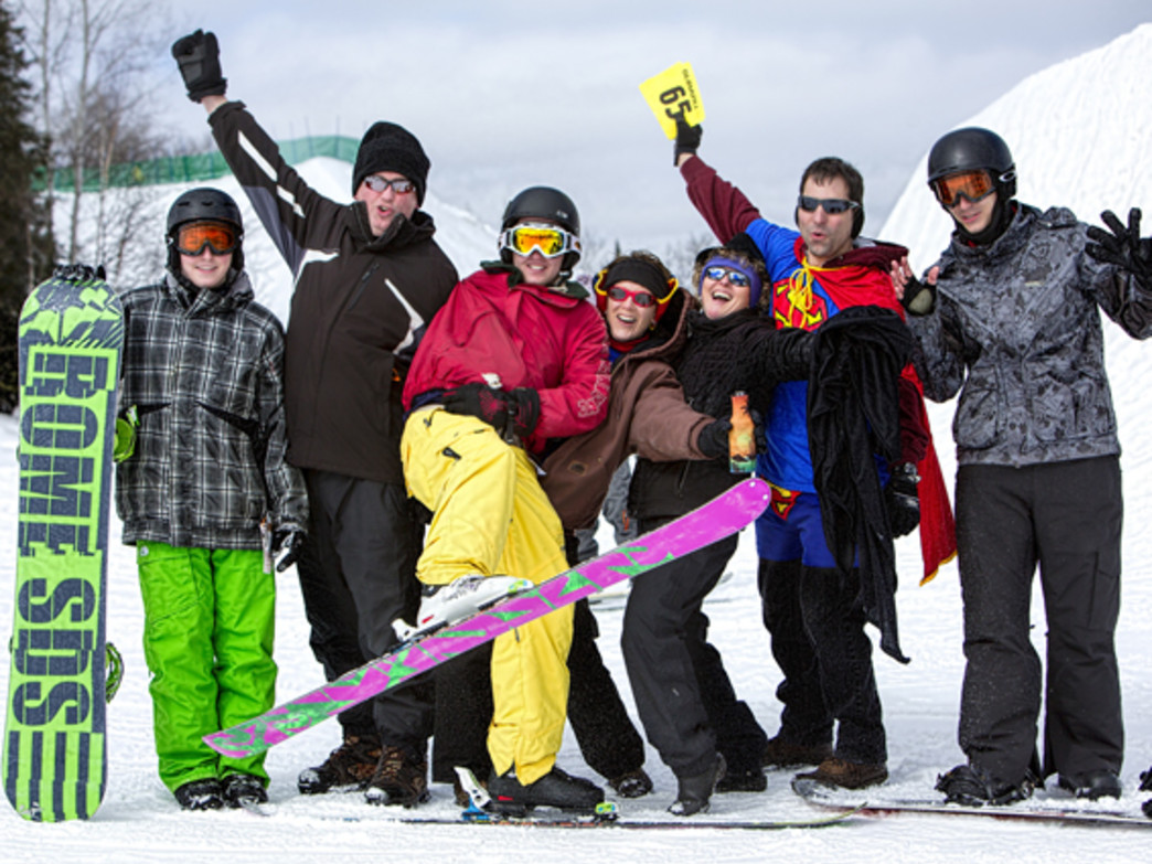 Giants Ridge features 35 downhill runs and multiple terrain parks.