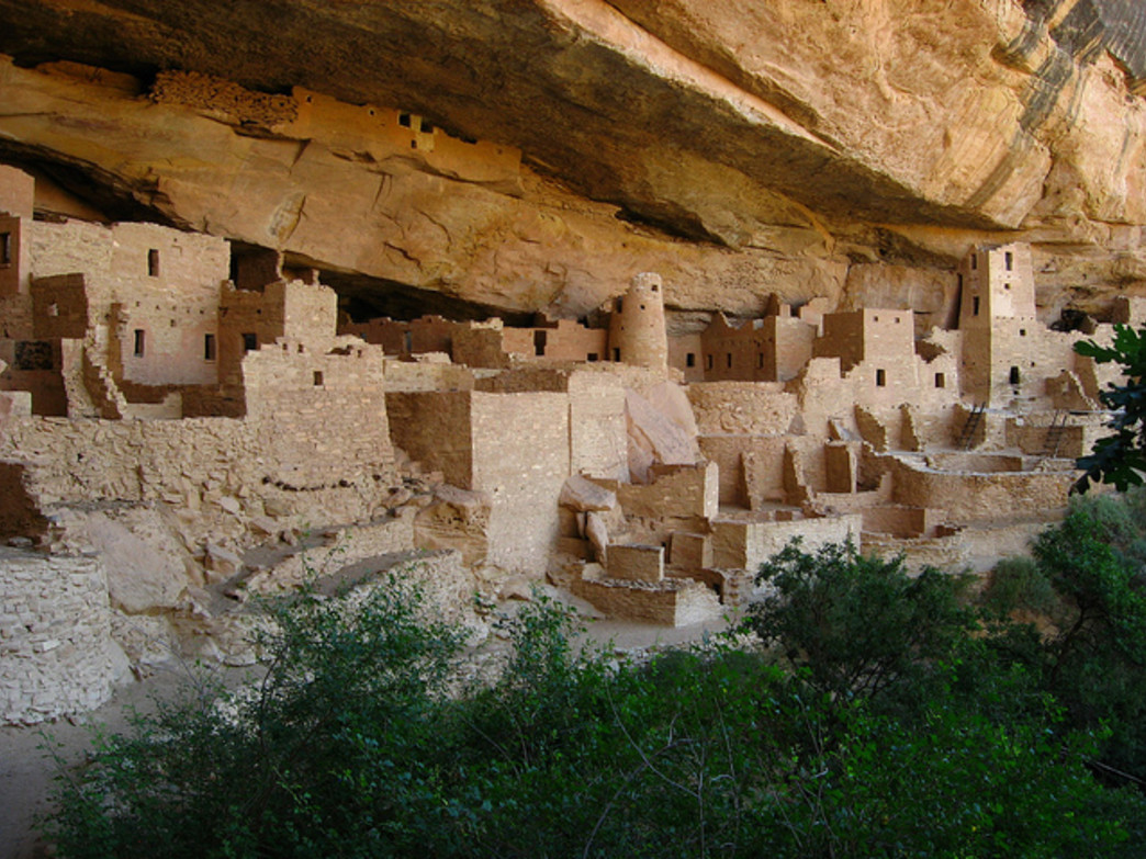 Cliff Palace is the largest Ancestral Puebloan dwelling at Mesa Verde National Park.