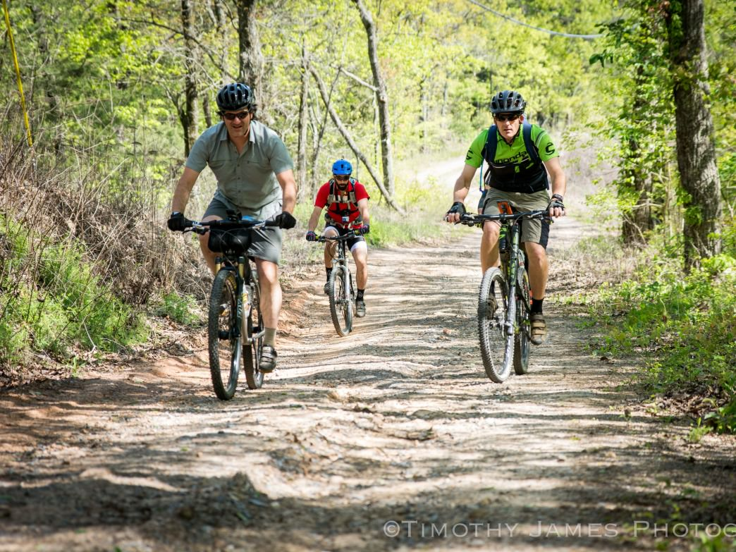 Mountain biking from Mulberry Gap