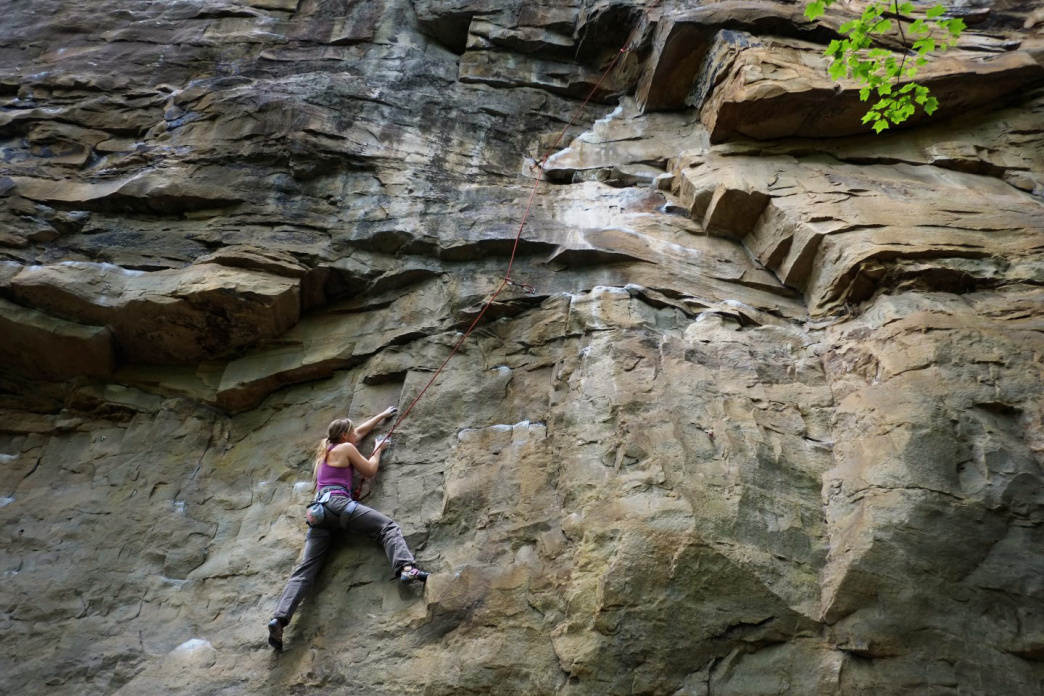 If you are psyched on pulling on sandstone, Chattanooga is the place to go.     Jake Wheeler