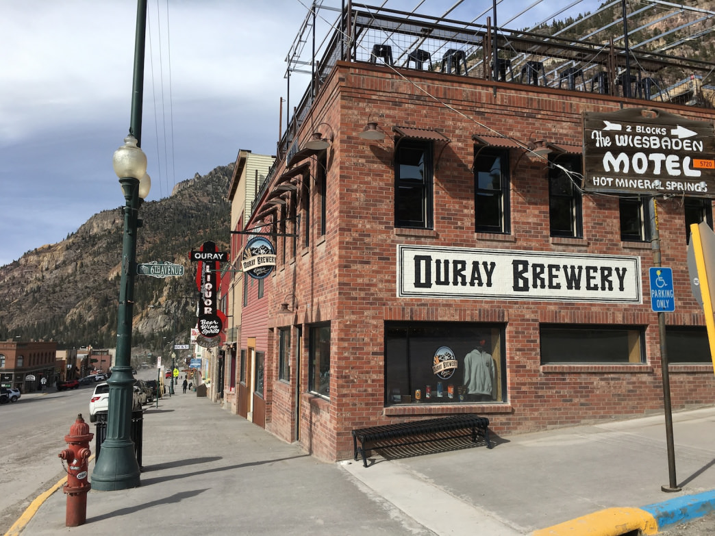 The Ouray Brewery pours excellent brews and even has a rooftop deck.