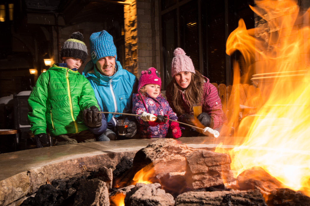 Treats by the fire are just one of the unique activities over the holidays.