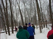 Snowshoeing in Lake Maria State Park