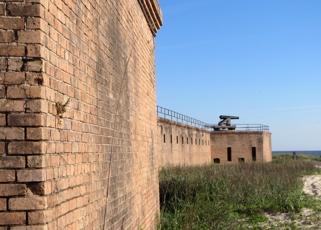 """A walk along the beaches from Dauphin Island's Audubon Bird Sanctuary takes you to historic Fort Gaines, a key player in the Civil War's """"Battle of Mobile Bay""""."""