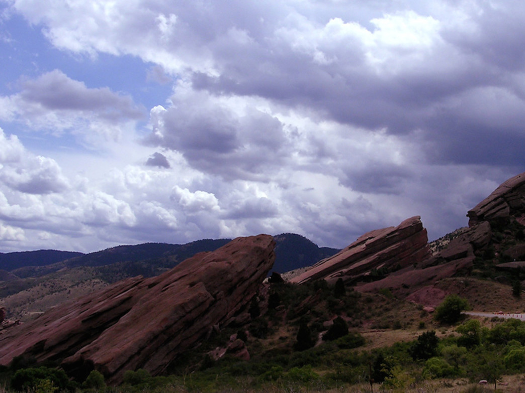 You get perfect views of Red Rocks from Mathews/Winters trails.