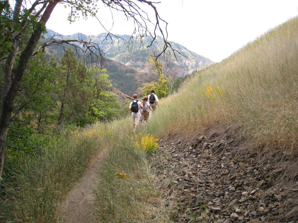 Hiking in Logan Canyon, Utah.
