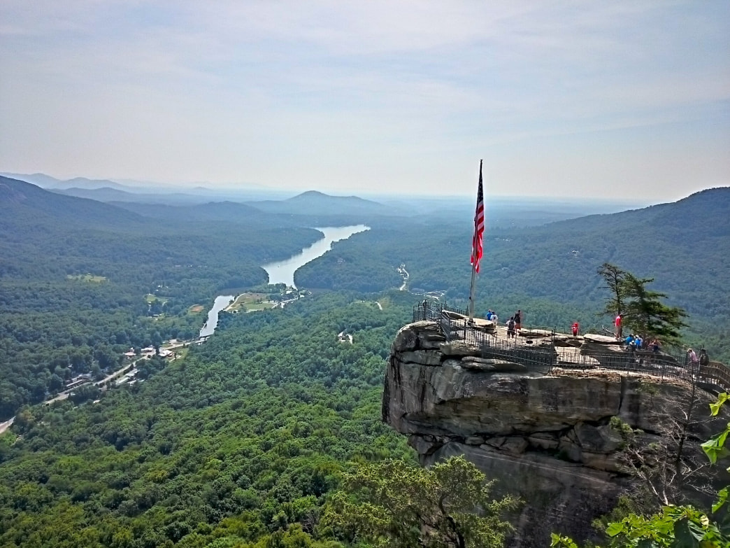 Laced with dramatic hiking trails, Chimney Rock State Park is only 25 miles outside of Asheville.