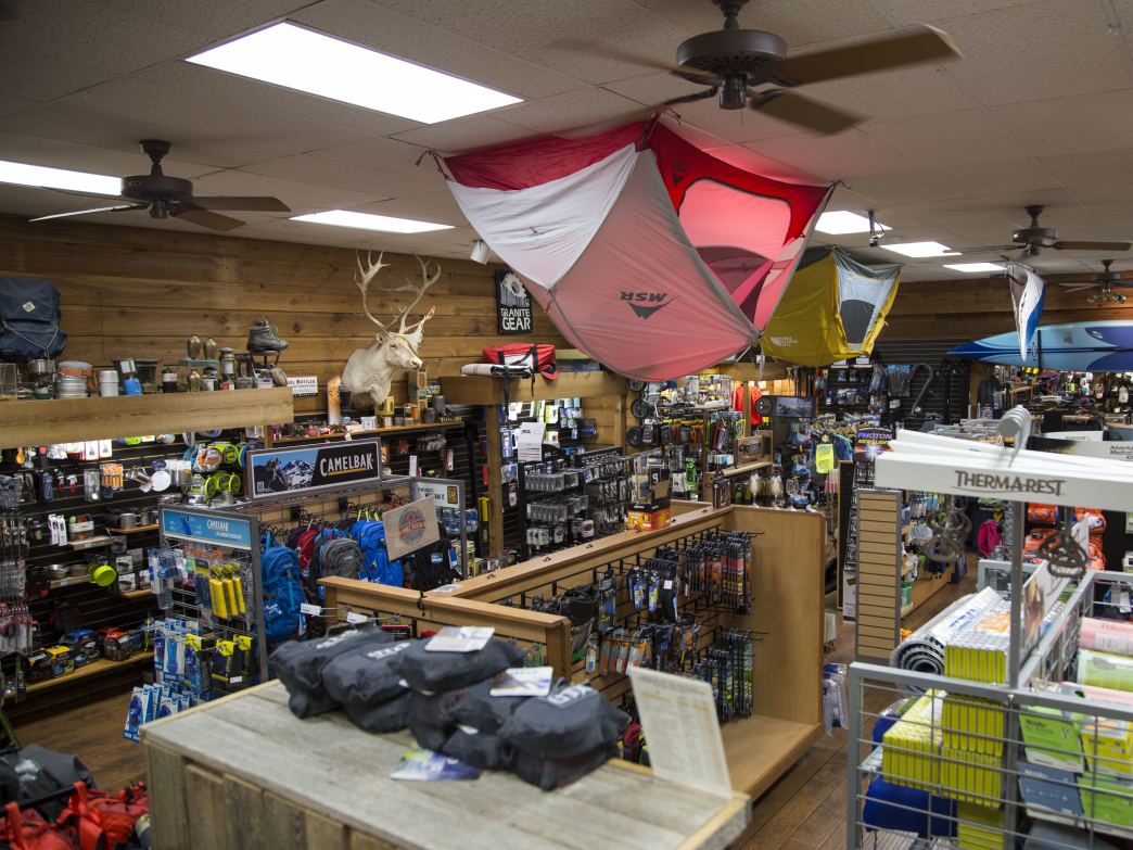 Travel Country is chockful of camping equipment and outdoor gear.