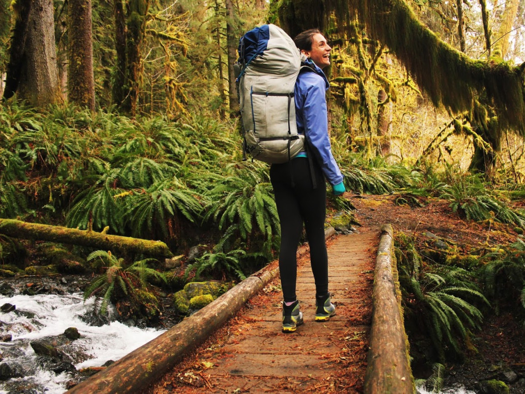 Backpacking on the Hoh River Trail will put a smile on your face.