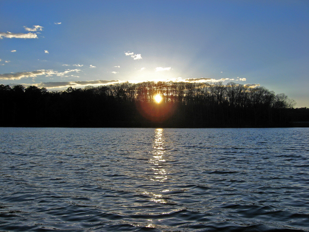 Sweetwater Creek State Park as the Sun Sets
