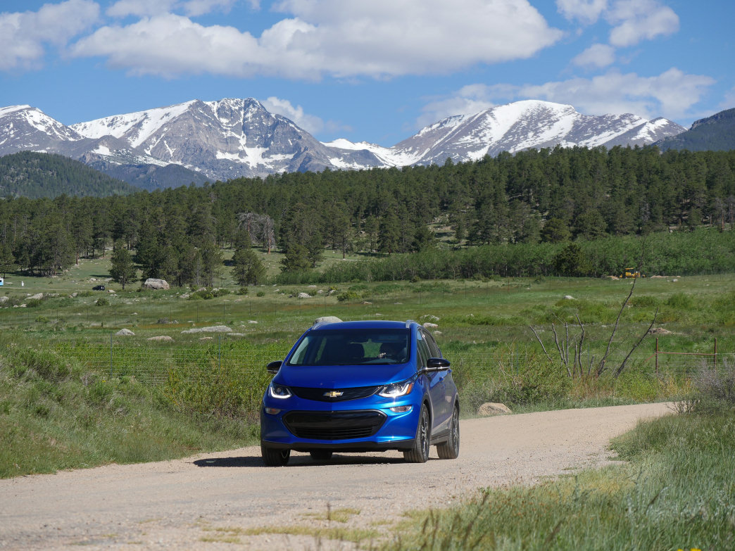 The Bolt EV was right at home in the Rocky Mountains.      Barry Staver