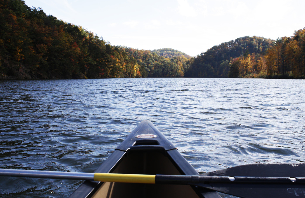 Enjoy paddling the high-elevation lake at Hungry Mother State Park.