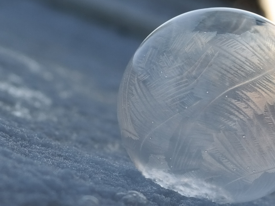 When the temperature gets cold enough, you can create solid bubbles.