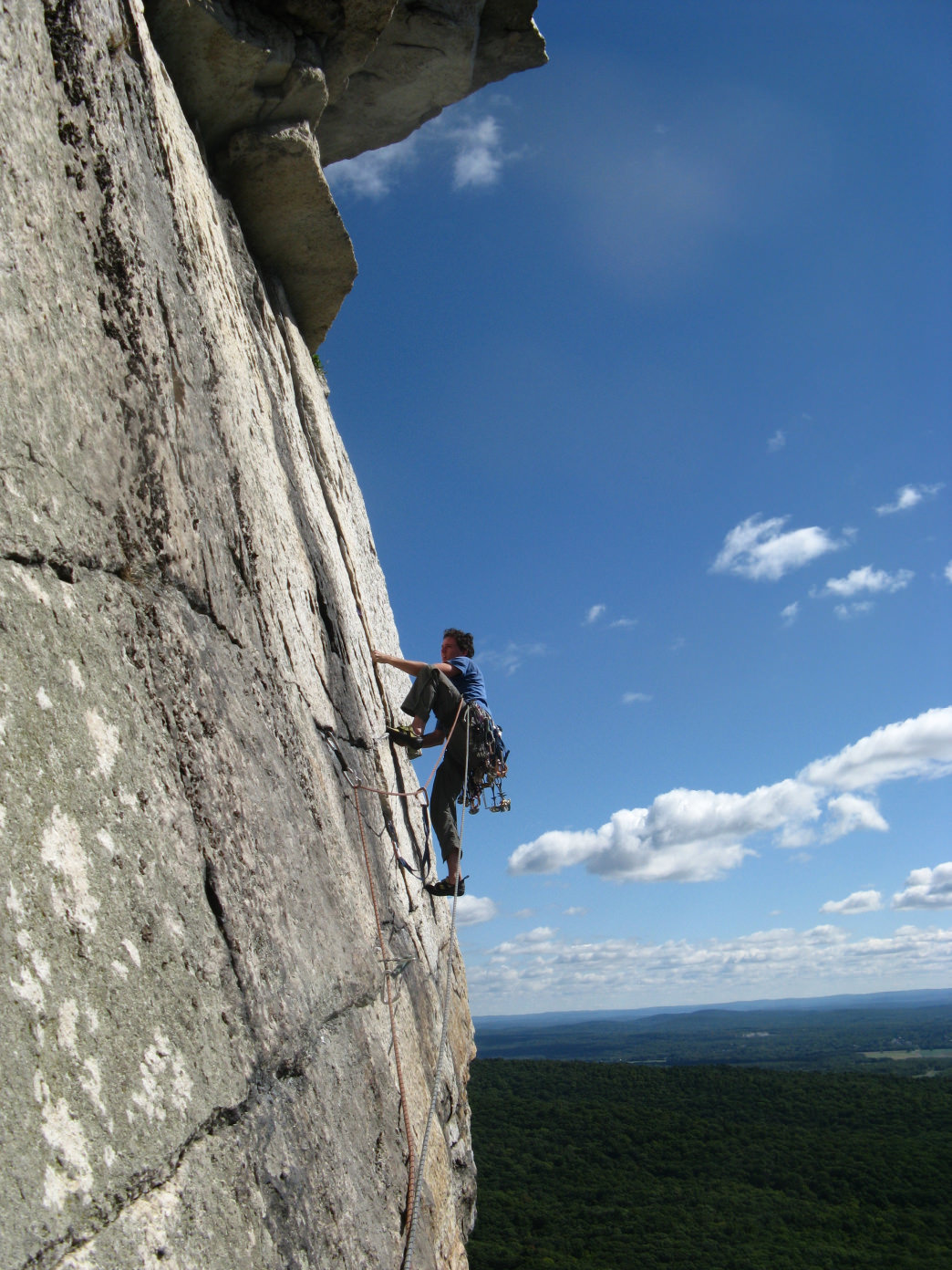 Routes at the Gunks are known for their stout grades, so be prepared for a slice of humble pie.