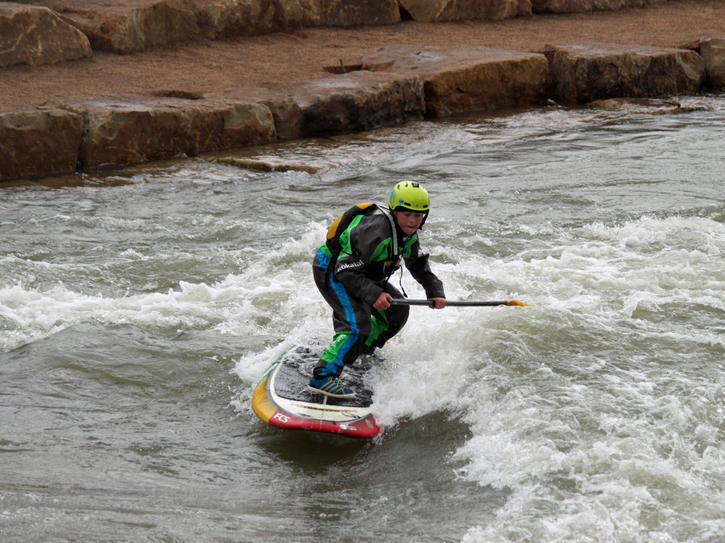 The Montrose Water Sports Park has one feature that's designed for beginner paddlers.