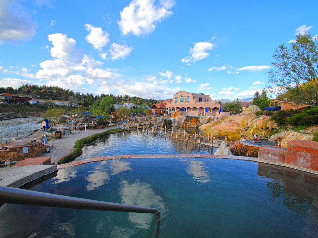 The Springs Resort & Spa in Pagosa Springs has 27 soaking pools.