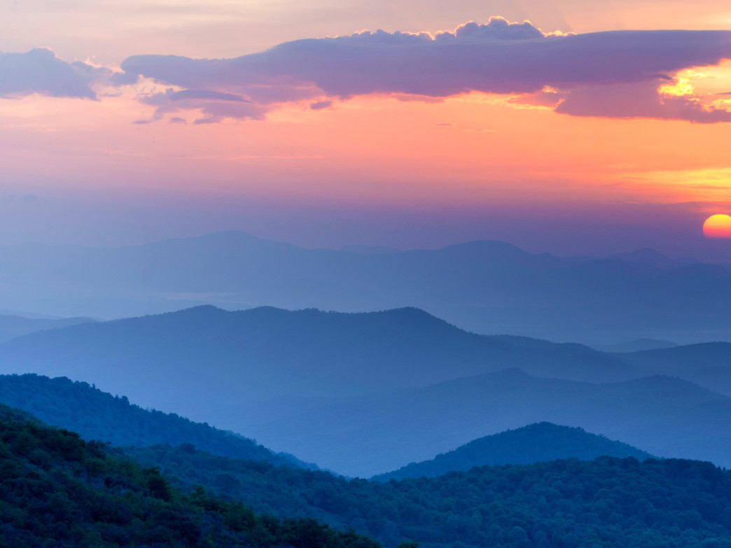 Landscape image of the Appalachian Mountains.