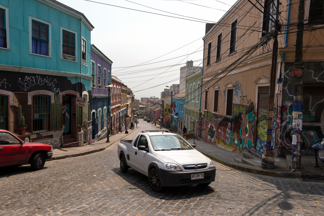 Technicolor neighborhoods can be found around every corner in Valparaíso.
