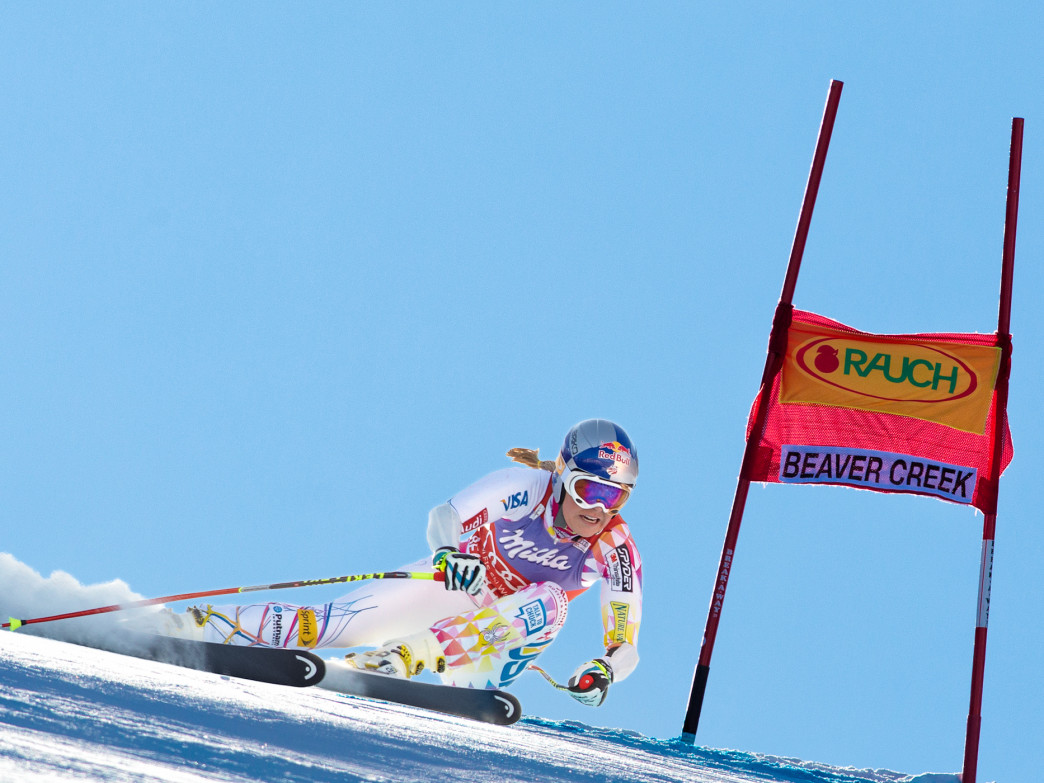 Lindsey Vonn races in Beaver Creek during the 2011 World Cup