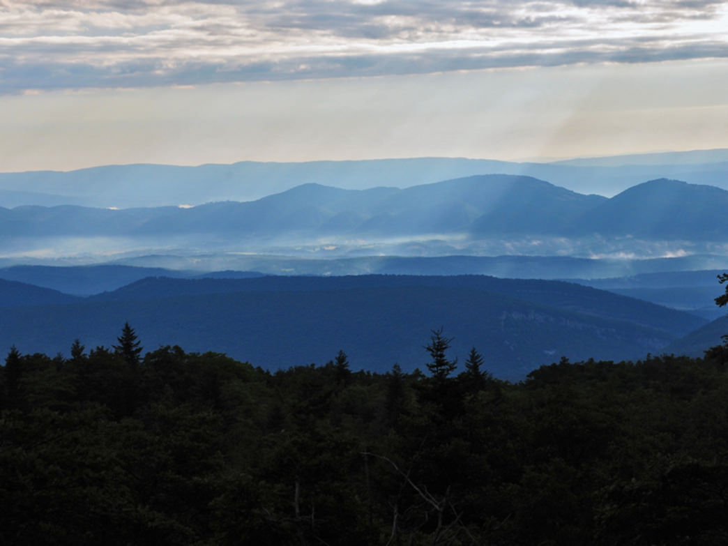 The Dolly Sods Wilderness area offers spectacular views of the natural mountain landscape.