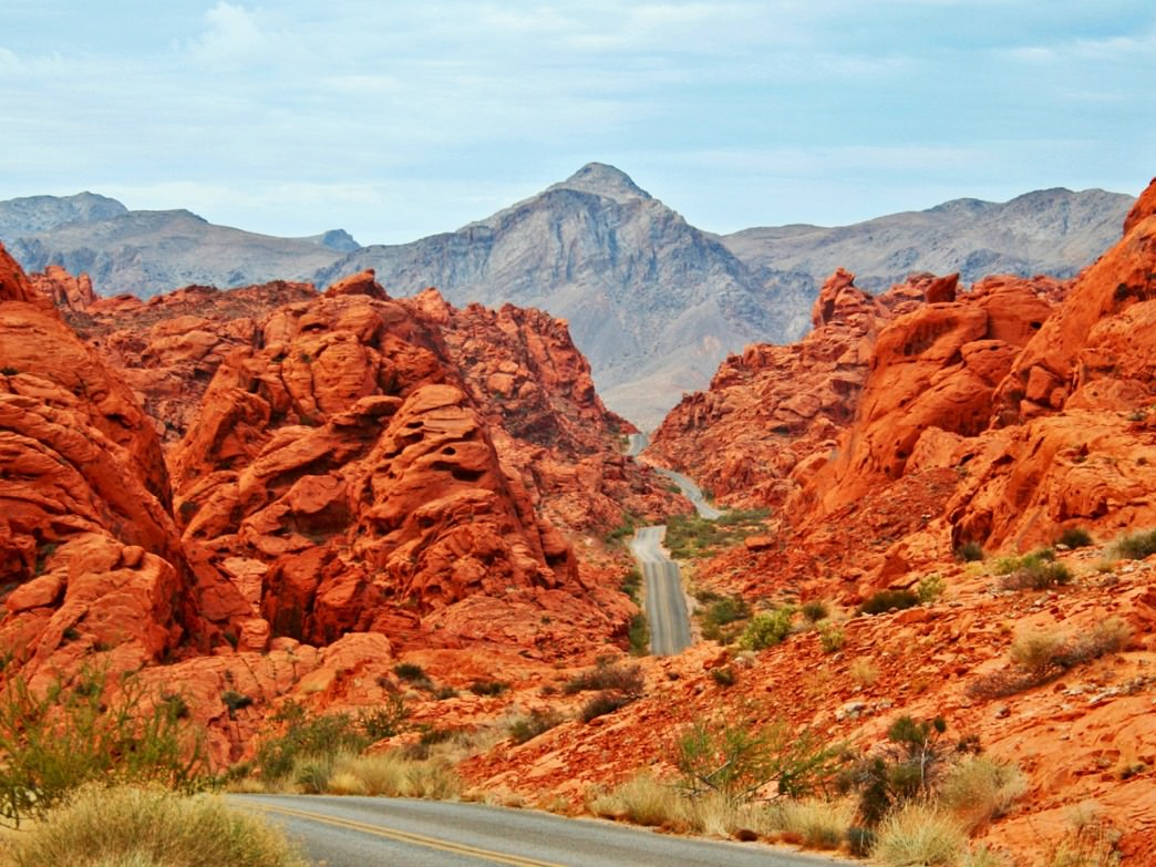Ribbon-like roads in Nevada's oldest state park.