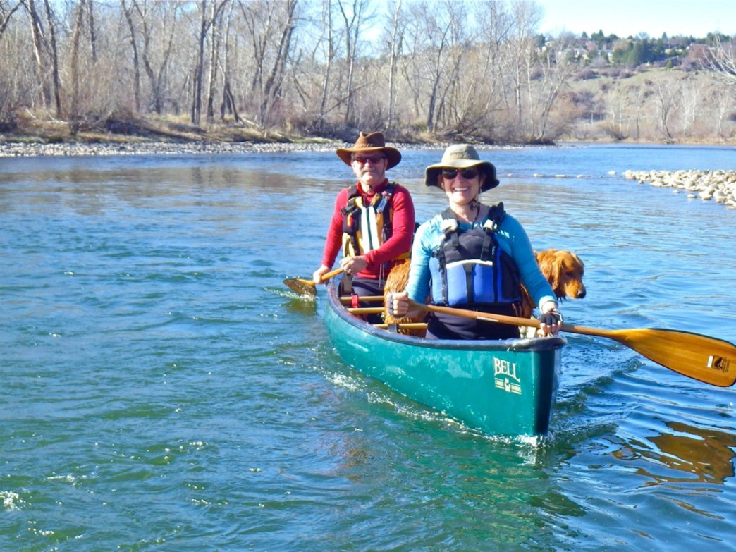 The Boise River can provide a good workout canoeing in the early season.