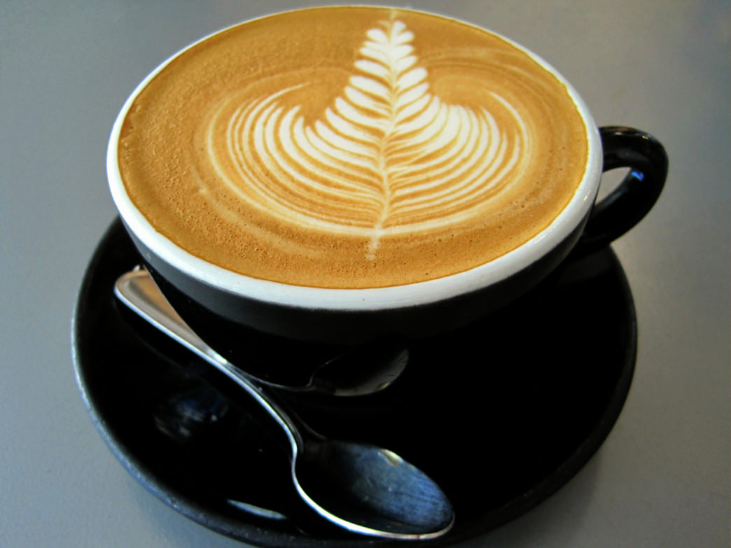 An artful latte from The French Press