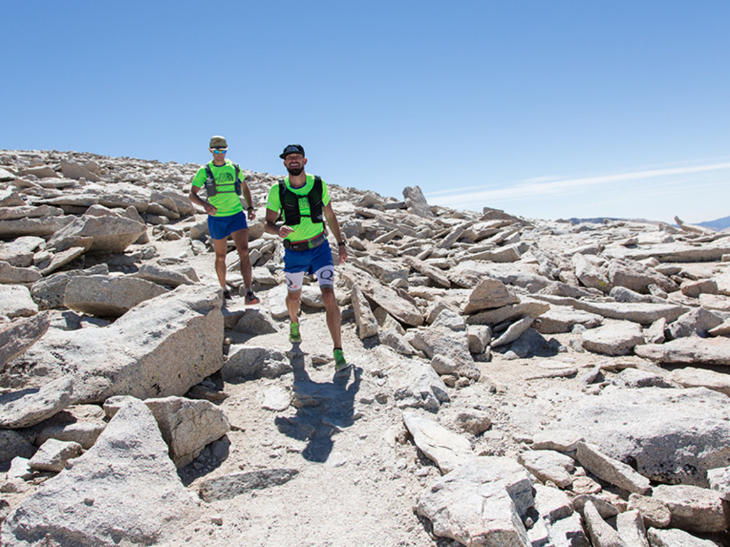 Mike Wolfe (l) and Hal Koerner on the John Muir Trail.
