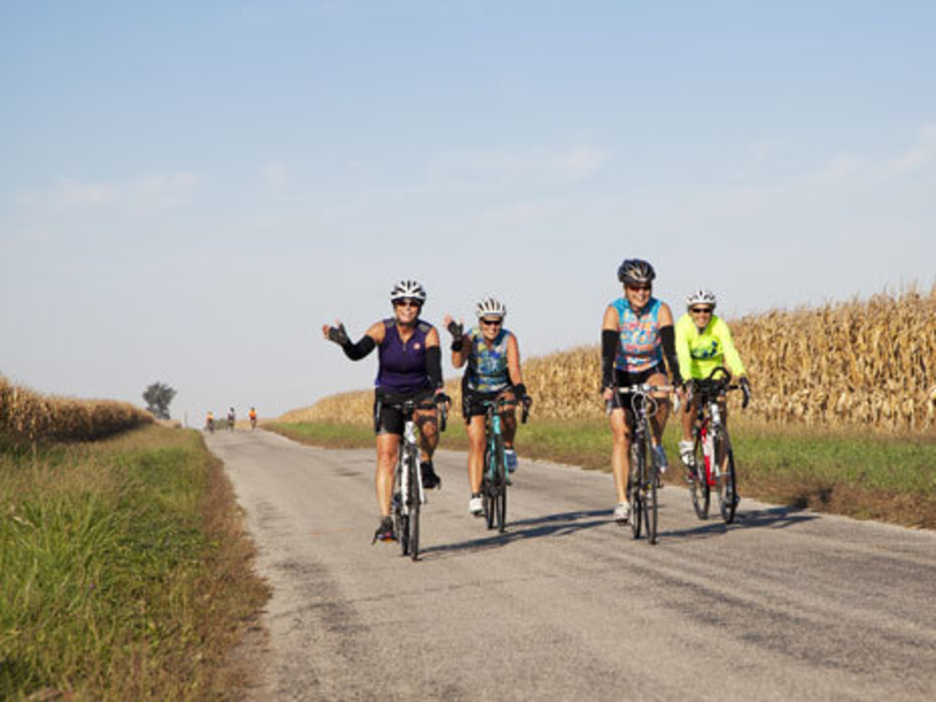 You'll see plenty of prairies, and Illinois farmland, at the Prairie Pedal.