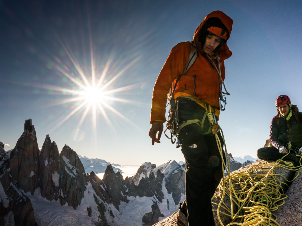 Watch Alex Honnold and Tommy Caldwell climb the Fitz Roy Traverse at Reel Rock 10.